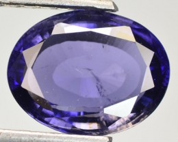 2.48 Cts Natural Deep Blue Tanzanian IOLITE Gemstone