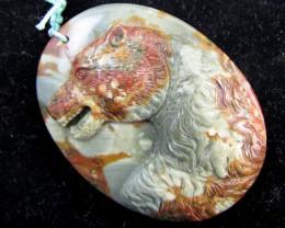 305 Cts Huge  Jasper Bear   Carving  AGR 525