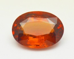 3.62ct Ceylon Orange HESSONITE Garnet 11.32 by 8.26  AAA VS2