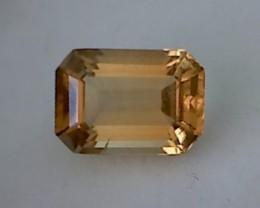 6.26ct Glittering Emerald Cut Golden Yellow Citrine VVSTH190