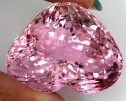 CERTIFIED PINK KUNZITE FACETED   123.36 CTS- MC13053005