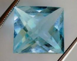 Princess Cut Pure and Bright Sky Blue Topaz 5.30ct VVS TH206