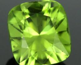 2.95 CTS CERT Stunning Fresh Lime Green Peridot Stone(PEG60)