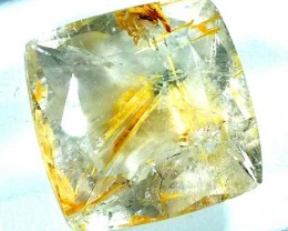 RUTILE QUARTZ FACETED BRAZIL 15.5  CTS  BG-123