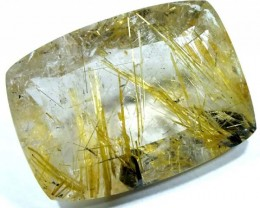 RUTILE QUARTZ FACETED BRAZIL  26 CTS  BG-157