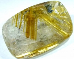 RUTILE QUARTZ FACETED BRAZIL 12.3  CTS  BG-158