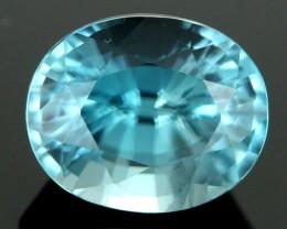 3.05 CTS CERT DIAMOND CUT BLUE ZIRCON (ZCB39)