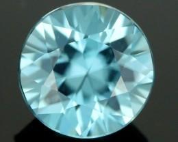 2.01 CTS CERT DIAMOND CUT BLUE ZIRCON (ZCB34)