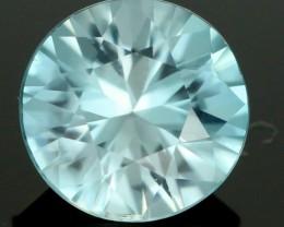 2.26 CTS CERT DIAMOND CUT BLUE ZIRCON (ZCB30)