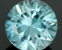 2.00 CTS CERT DIAMOND CUT BLUE ZIRCON (ZCB36)