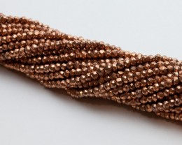 43ct Bronze Pyrite Bead Strands (B16)