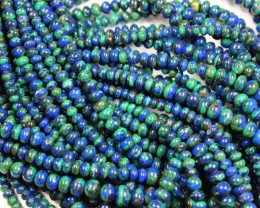 1 STRAND AZURITE RONDELLE BEADS - 15 INCHES LENGTH P681