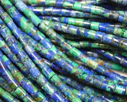 1 STRAND AZURITE HESHI SHAPE BEADS 4 MM - 16 INCHES LENGHT
