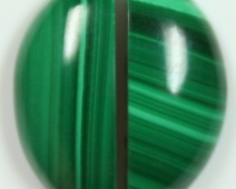 17.5 CTS MALACHITE PAIR OF STONE TOP GLOSSY POLISH ON STONES
