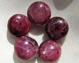 34.3 CTS Parcel  5 Cabochon Rubys MYGM 1887
