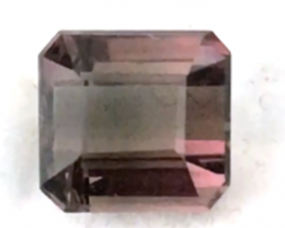 2.45 Emerald Cut Chocklate Pink Tourmaline  - Africa,  RS31/5  H646