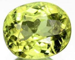 1.10ct Sparkling Medium Light Yellow Zircon,  RS26/4