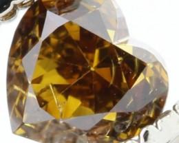 TOP RARE HEART SHAPE WHISKY NATURAL DIAMOND 0.24Cts