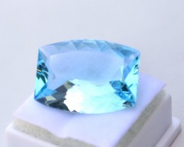 17.64 Carat Fancy Cushion Cut Sky Blue Topaz