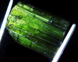 21.85 CTS TOURMALINE BLACK /GREEN GOLD. SPECIMEN [F4771]