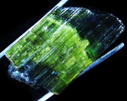 48.44 CTS TOURMALINE BLACK /GREEN GOLD. SPECIMEN [F4788]
