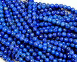 1 STRAND LAPIS LAZULI 6 MM ROUND BEADS - 15 INCH LENGHT