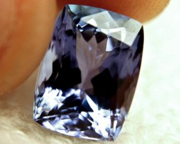 CERTIFIED - 6.92 Ct IF/VVS1 Purple/Blue Tanzanite - Superb