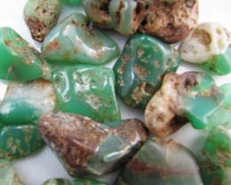 800 Cts tumbled Aussie chrysophrase  MYGM 2025