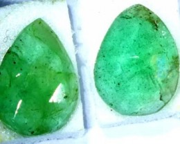 FACETED PAIR EMERALD  1.54  CTS ADG-94