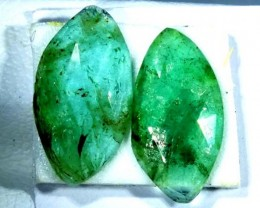 FACETED PAIR EMERALD  2.68  CTS ADG-96