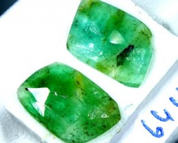 FACETED PAIR EMERALD 2.64   CTS ADG-97