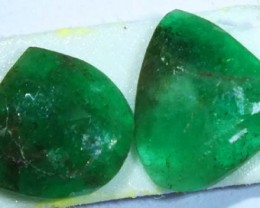 FACETED PAIR EMERALD  3.58  CTS ADG-105