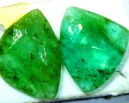 FACETED PAIR EMERALD  2.19  CTS ADG-107