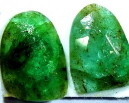 FACETED PAIR EMERALD  4.56  CTS ADG-109