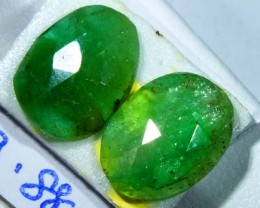 FACETED PAIR EMERALD  3.88  CTS ADG-111
