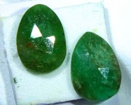 FACETED PAIR EMERALD   2.29 CTS ADG-113