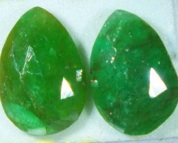 FACETED PAIR EMERALD  3.35  CTS ADG-114