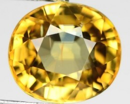 Brilliance ! 3.50ct Golden Yellow Sphene RS12/3