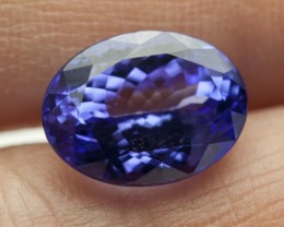 6.8ct Certified Blue Oval Tanzanite (PG-86-63-MW)