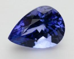 4.0ct Standard Blue Pear Tanzanite (PG-86-292-MW)