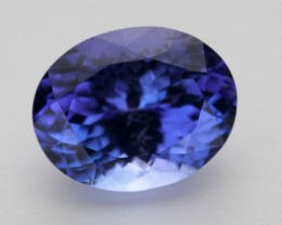 5.6ct Certified Standard Blue Oval Tanzanite (PG-88-13-MW)