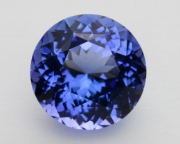 6.2ct Certified Blue Round Tanzanite (PG-92-14-MN)