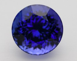6.0ct Certified Standard Blue Round Tanzanite (PG-92-31-MN)