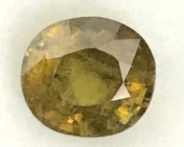 Sparkles with Brilliance Bright Yellowish Green  Sphene VVSRS33/8