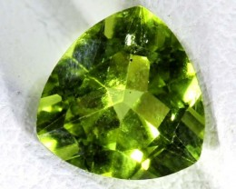 PERIDOT FACETED STONE 1.7  CTS TBG 663