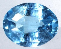 BLUE TOPAZ  NATURAL STONE FACETED 2  CTS TBG 672