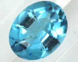 BLUE TOPAZ  NATURAL STONE FACETED 2.2  CTS TBG 675