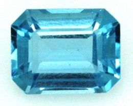 BLUE TOPAZ  NATURAL STONE FACETED 1.9  CTS TBG 682