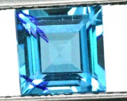 BLUE TOPAZ  NATURAL STONE FACETED  1.95 CTS TBG 695