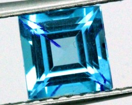BLUE TOPAZ  NATURAL STONE FACETED  1.9 CTS TBG 697